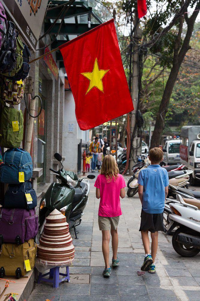 Walking Through Hanoi