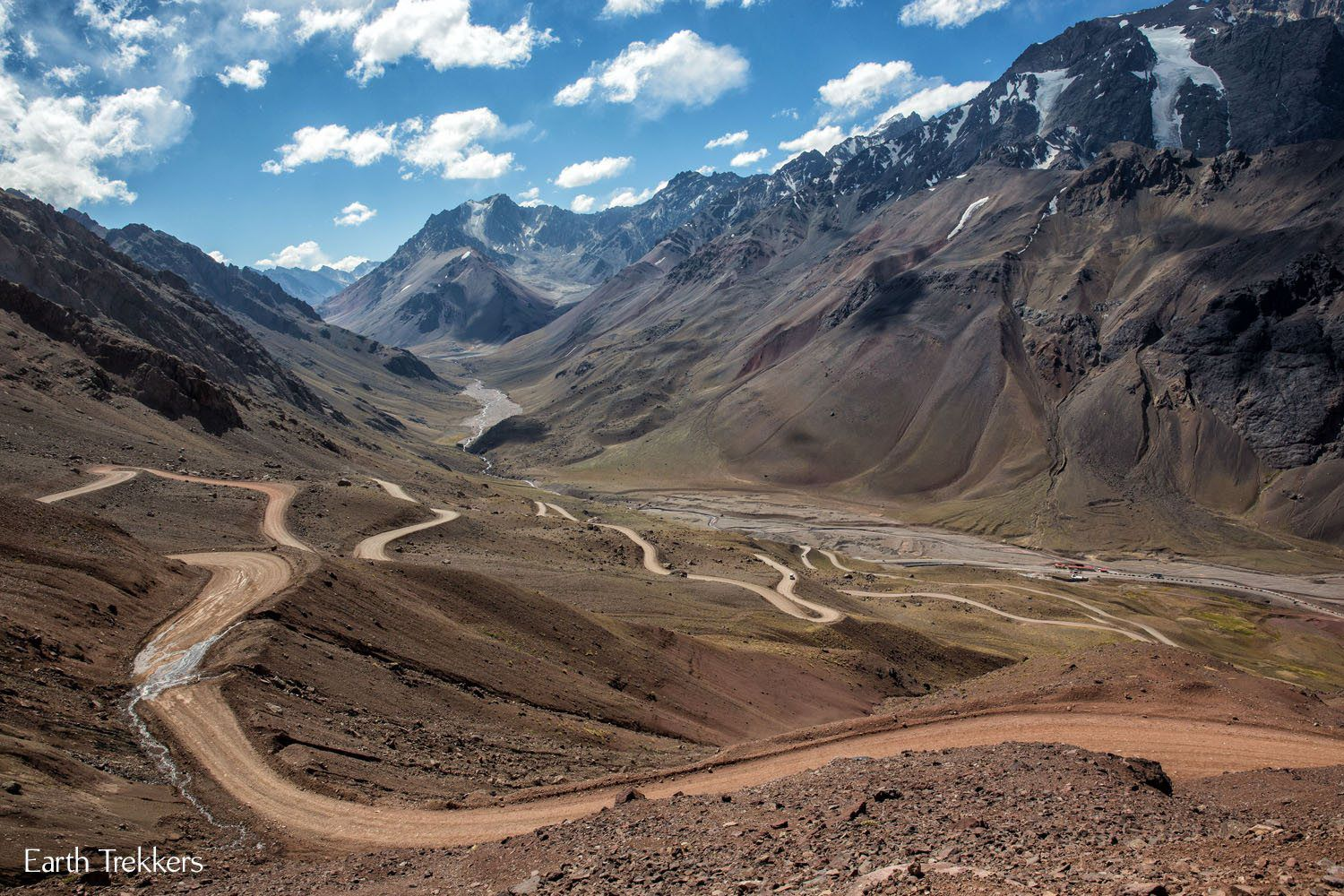 Argentina Andes and Dirt Road