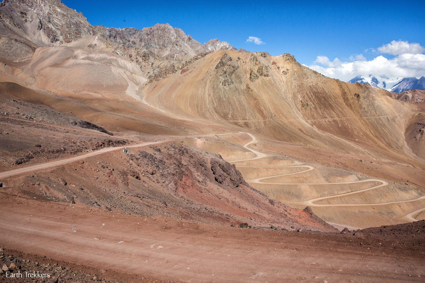 Dirt Road Andes Mountains