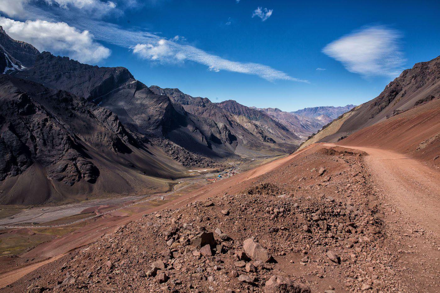 Driving Cristo Redentor de los Andes Dirt Road