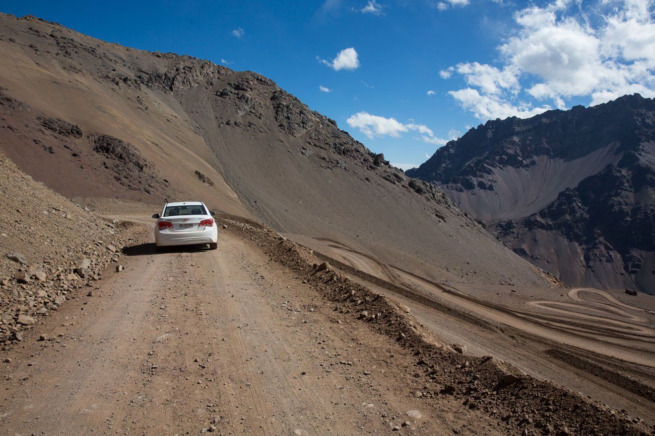 Driving Dirt Road Chile Argentina