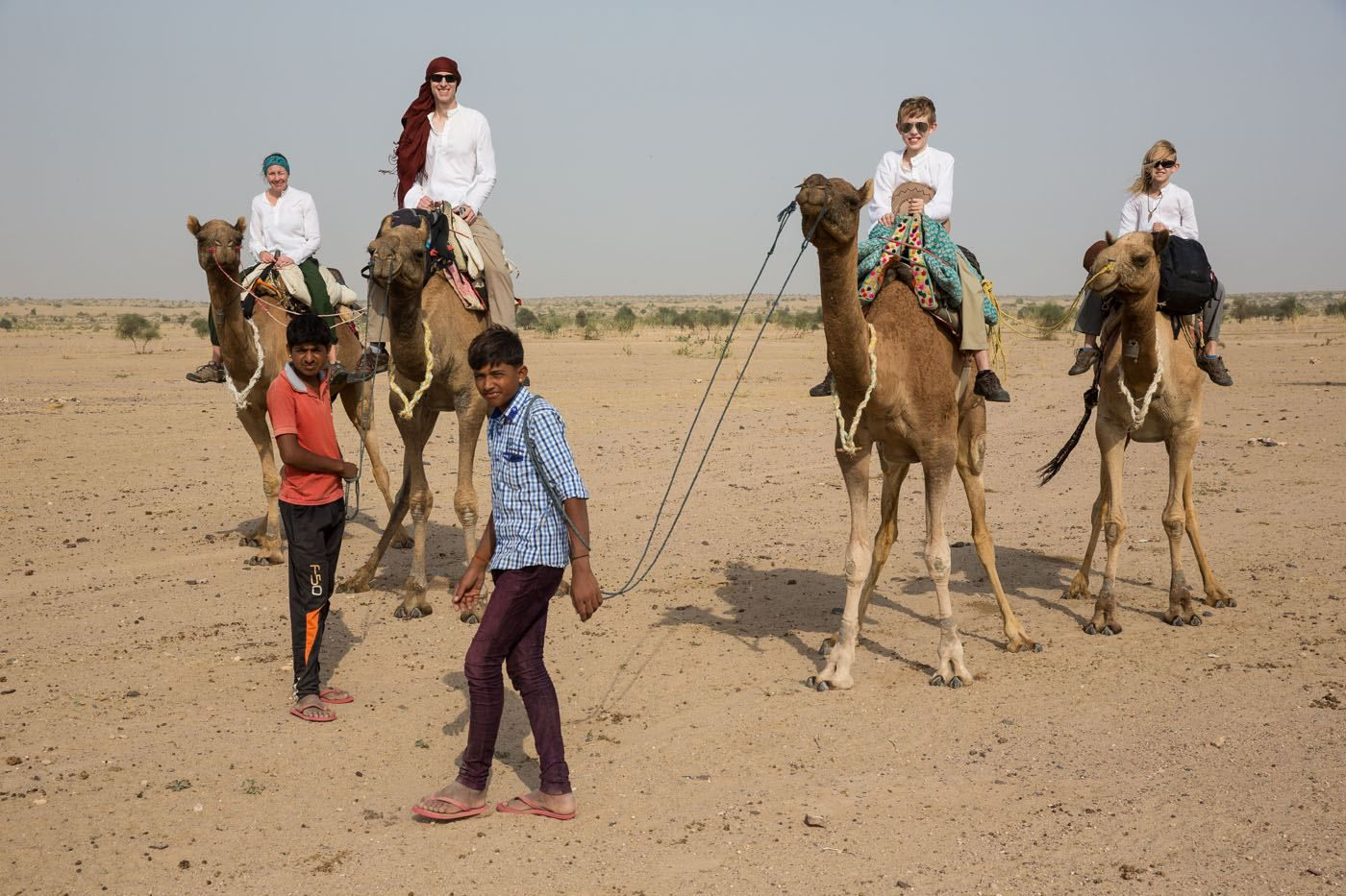 Earth Trekkers on camels