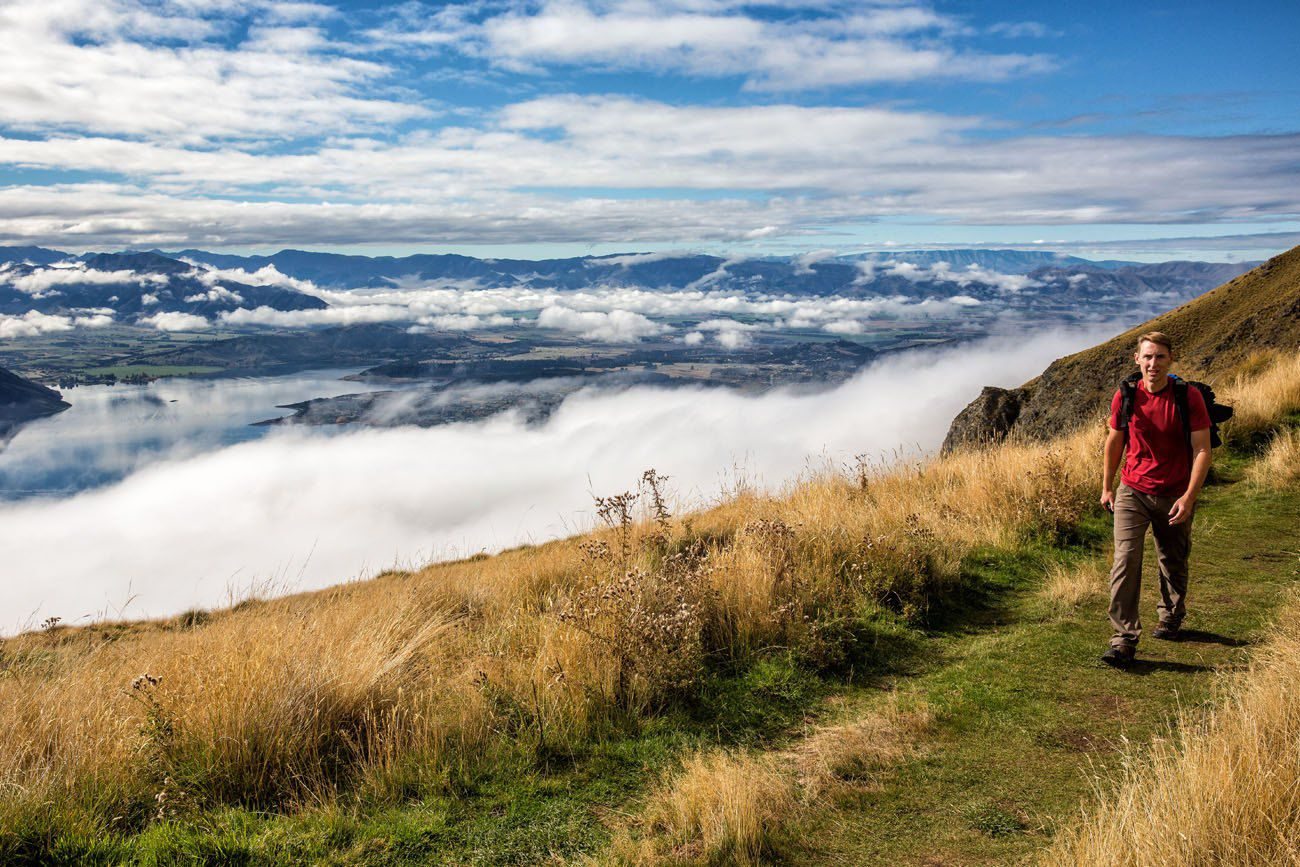 Hiking Roys Peak New Zealand