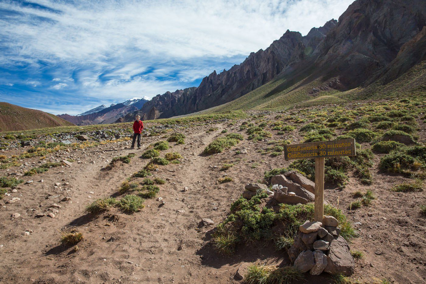 Hiking to Aconcagua Confluencia