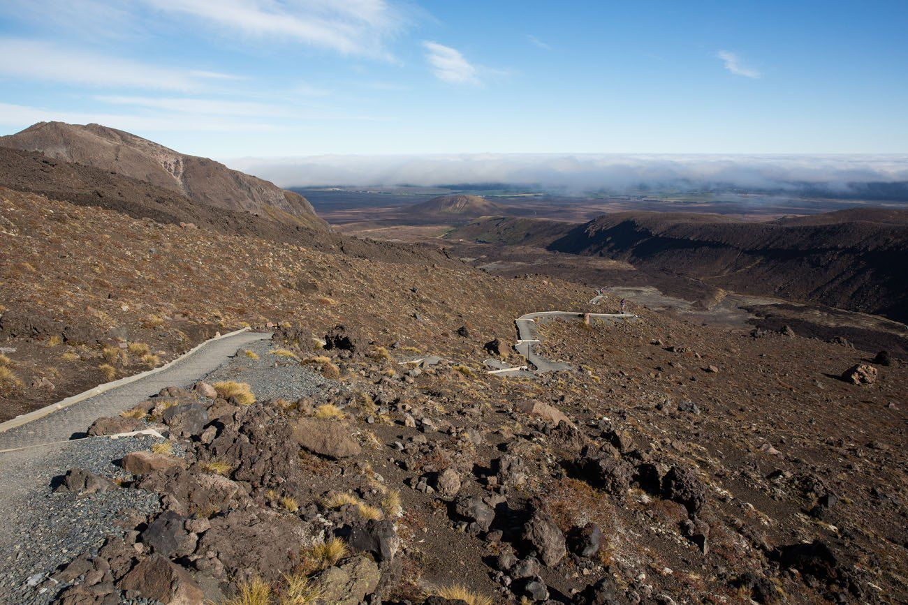 Hiking up Mt Doom