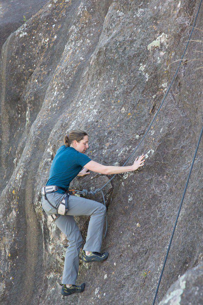 Julie Rivenbark Climbing
