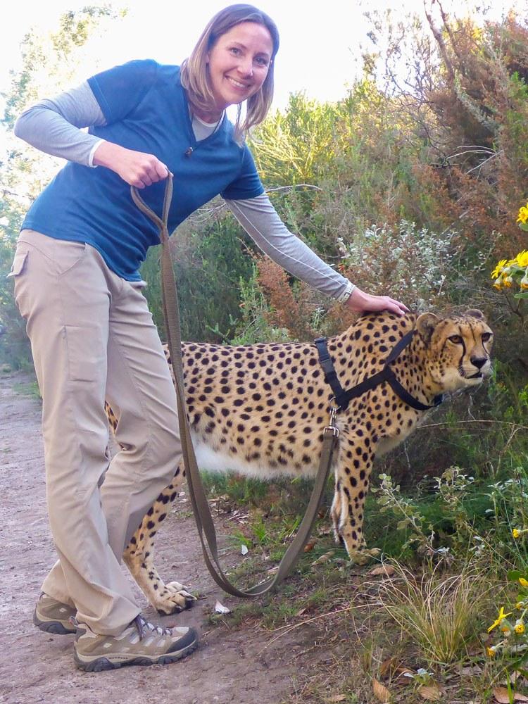 Julie Rivenbark with Cheetah