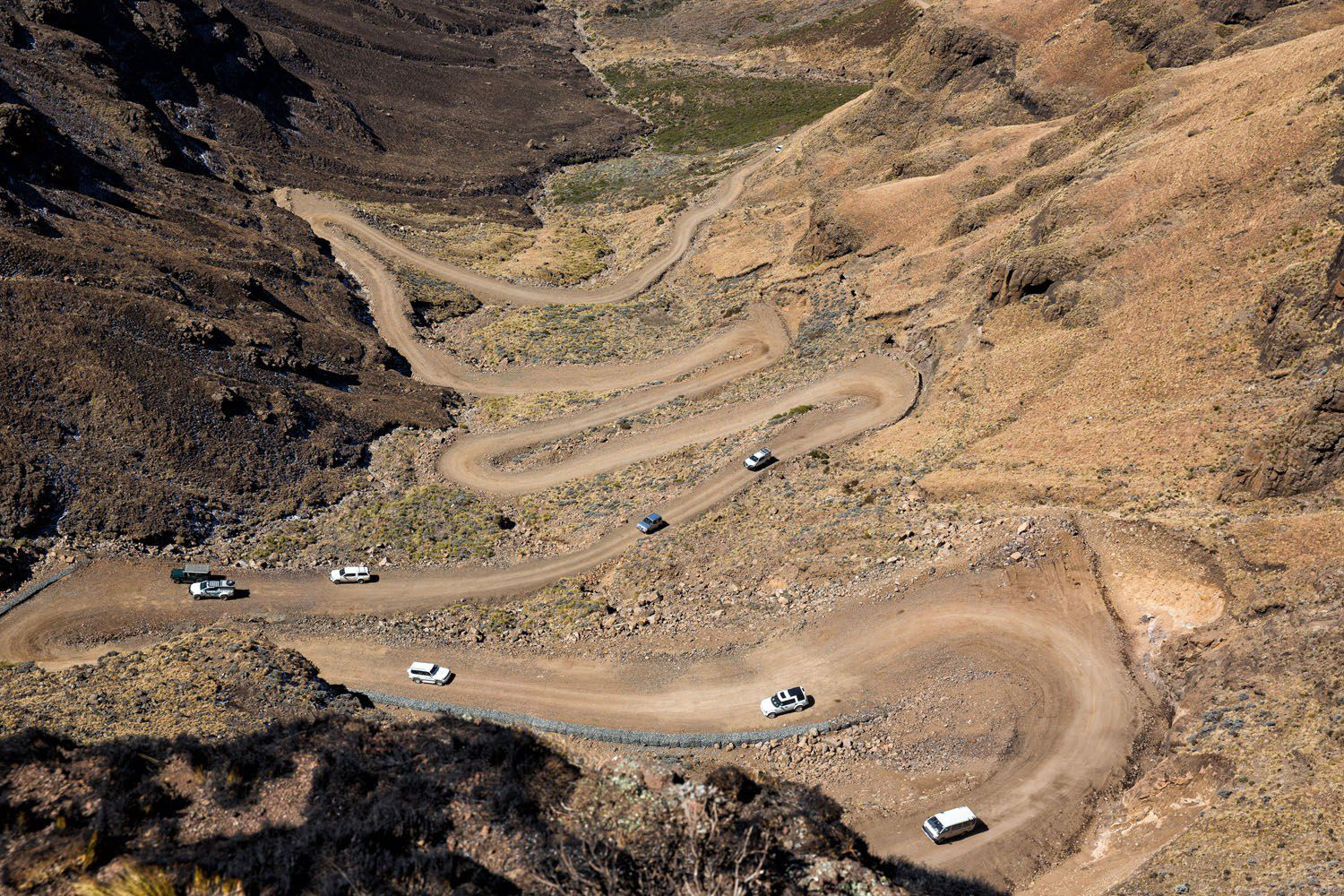 Looking down on Sani Pass