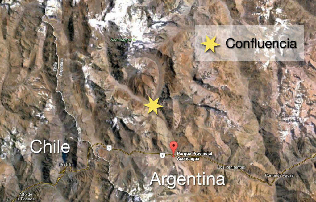 Map of Aconcagua Hike