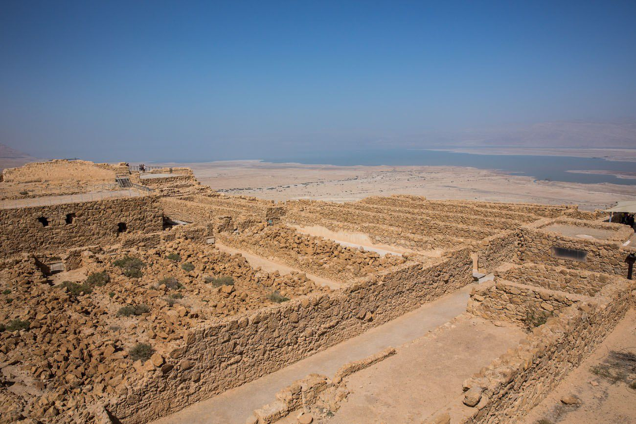 Masada and the Dead Sea View