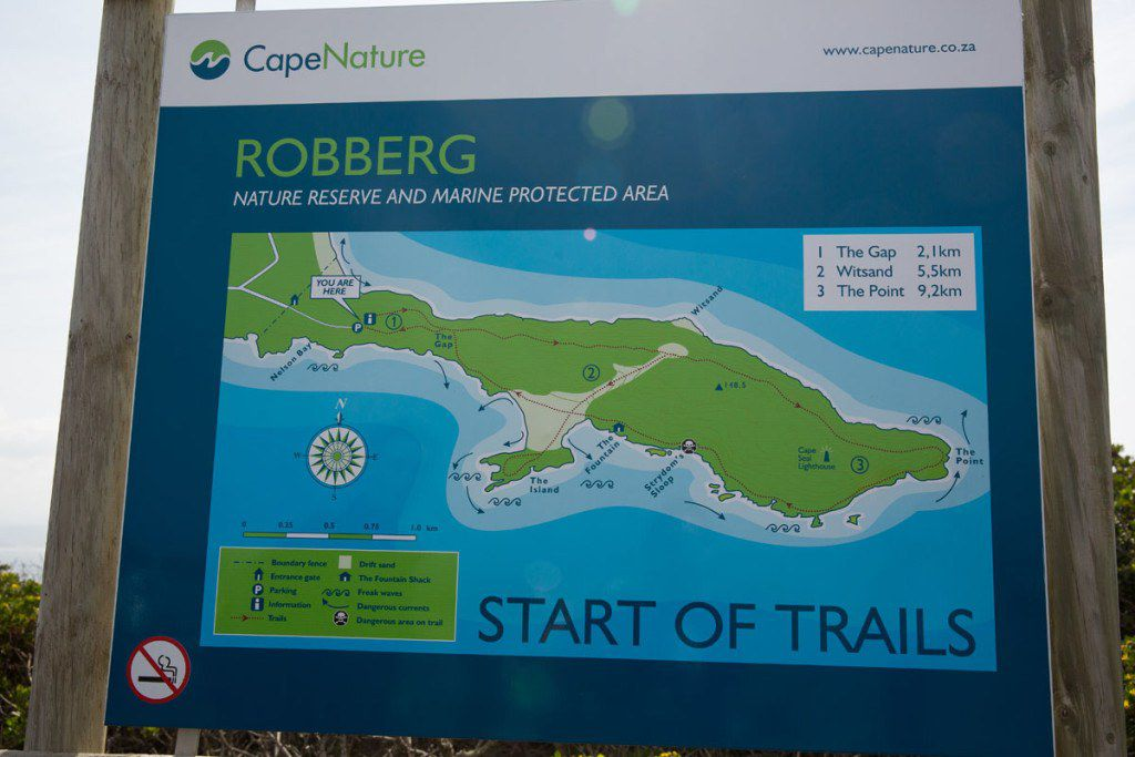 Robberg Trails Map