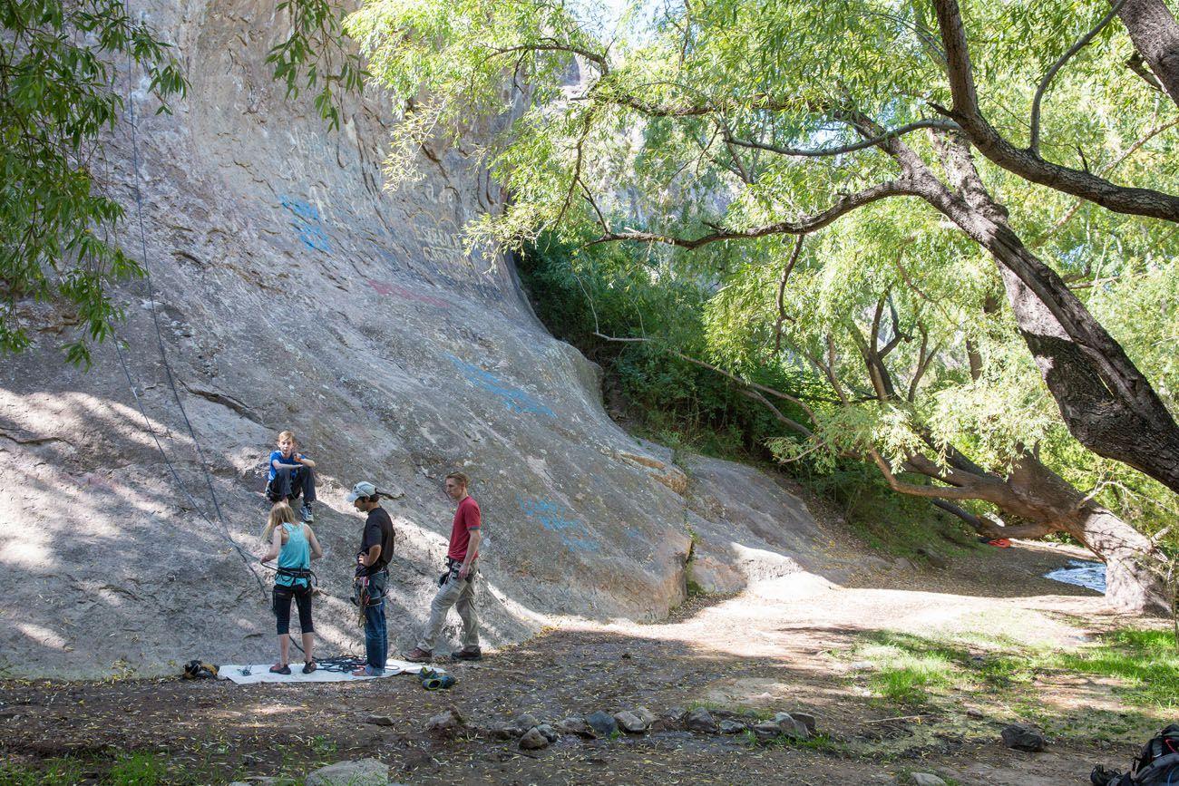 Rock Climbing in Mendoza Argentina