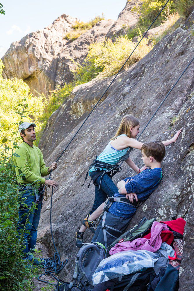 Rock Climbing in Mendoza with Kids