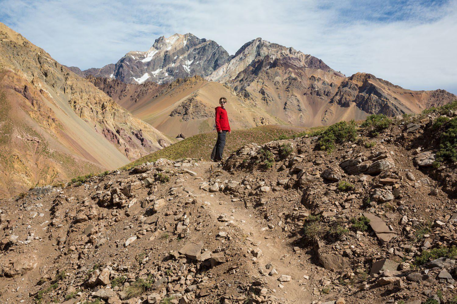 Tyler Rivenbark Hiking in Argentina