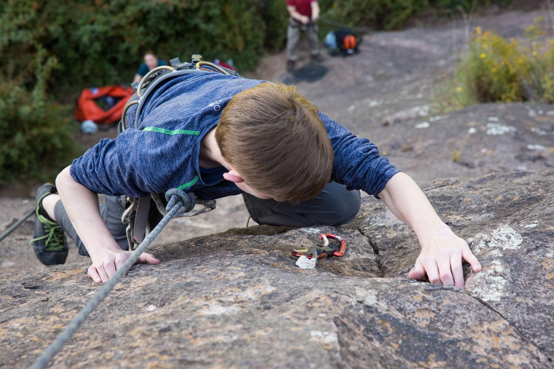 Tyler Rivenbark Rock Climbing