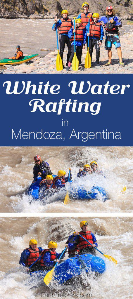 White water rafting in Mendoza Argentina