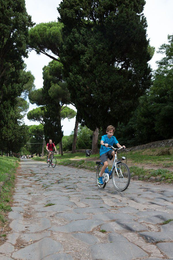 Biking Appian Way