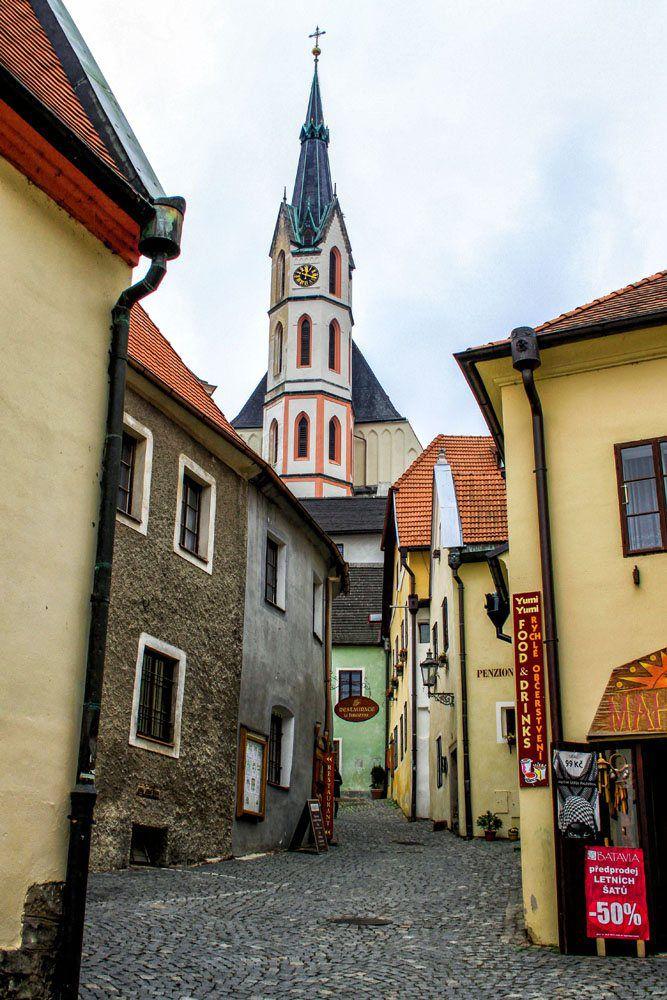 Cesky Krumlov City Street