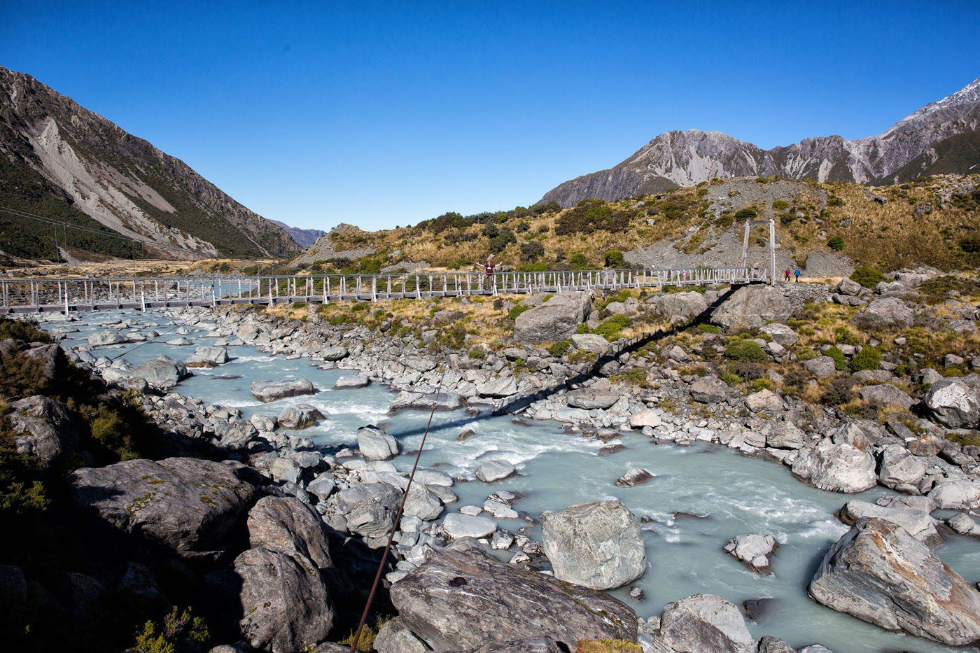 Hiking Hooker Valley Track New Zealand