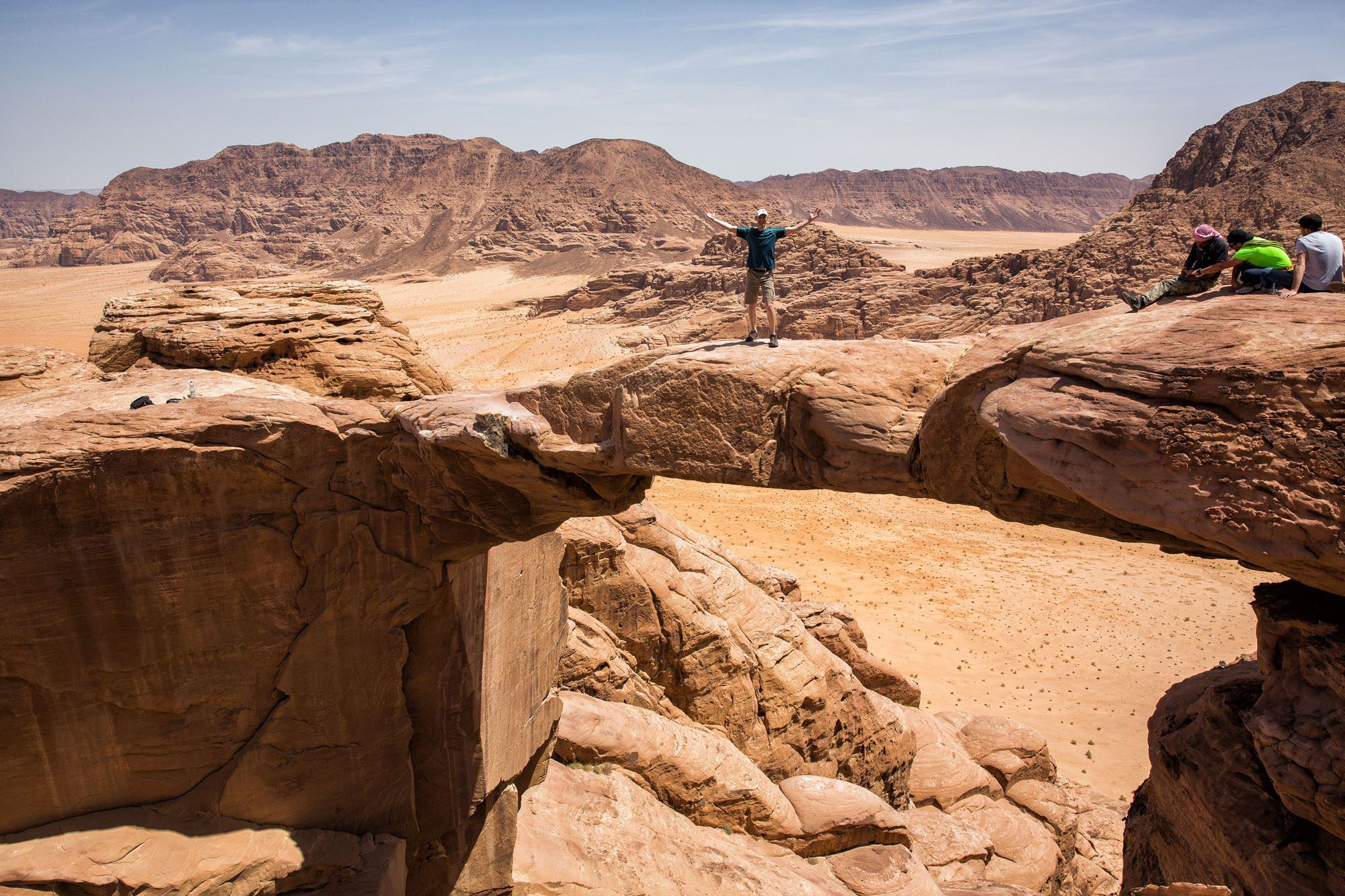 Hiking Jebel Burdah Rock Arch Jordan