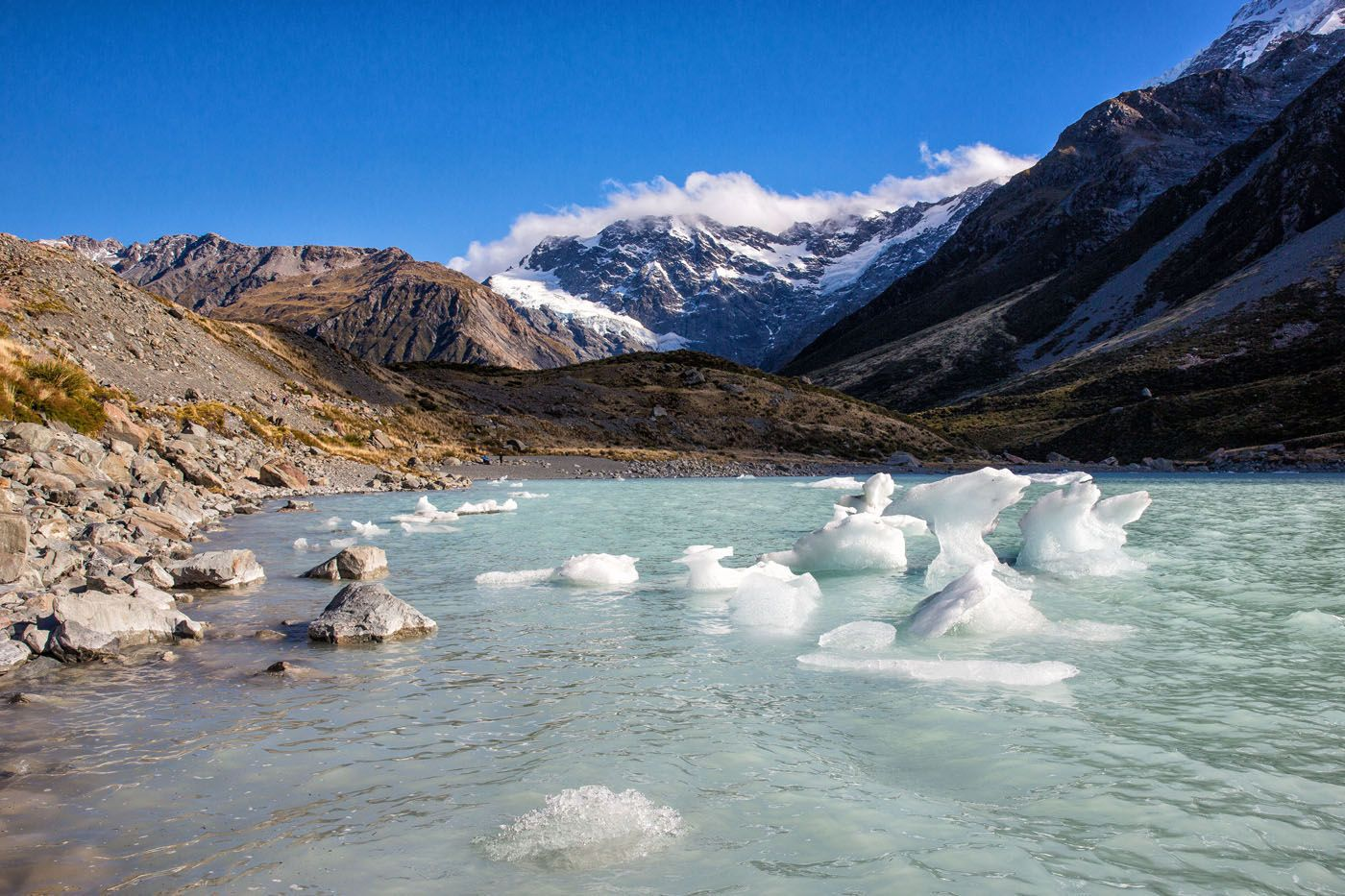 Hiking to Mt Cook