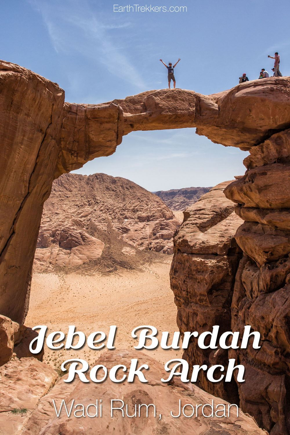 Jebel Burdah Rock Bridge Wadi Rum Jordan