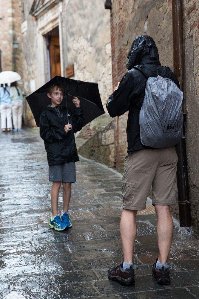 Montalcino in the Rain