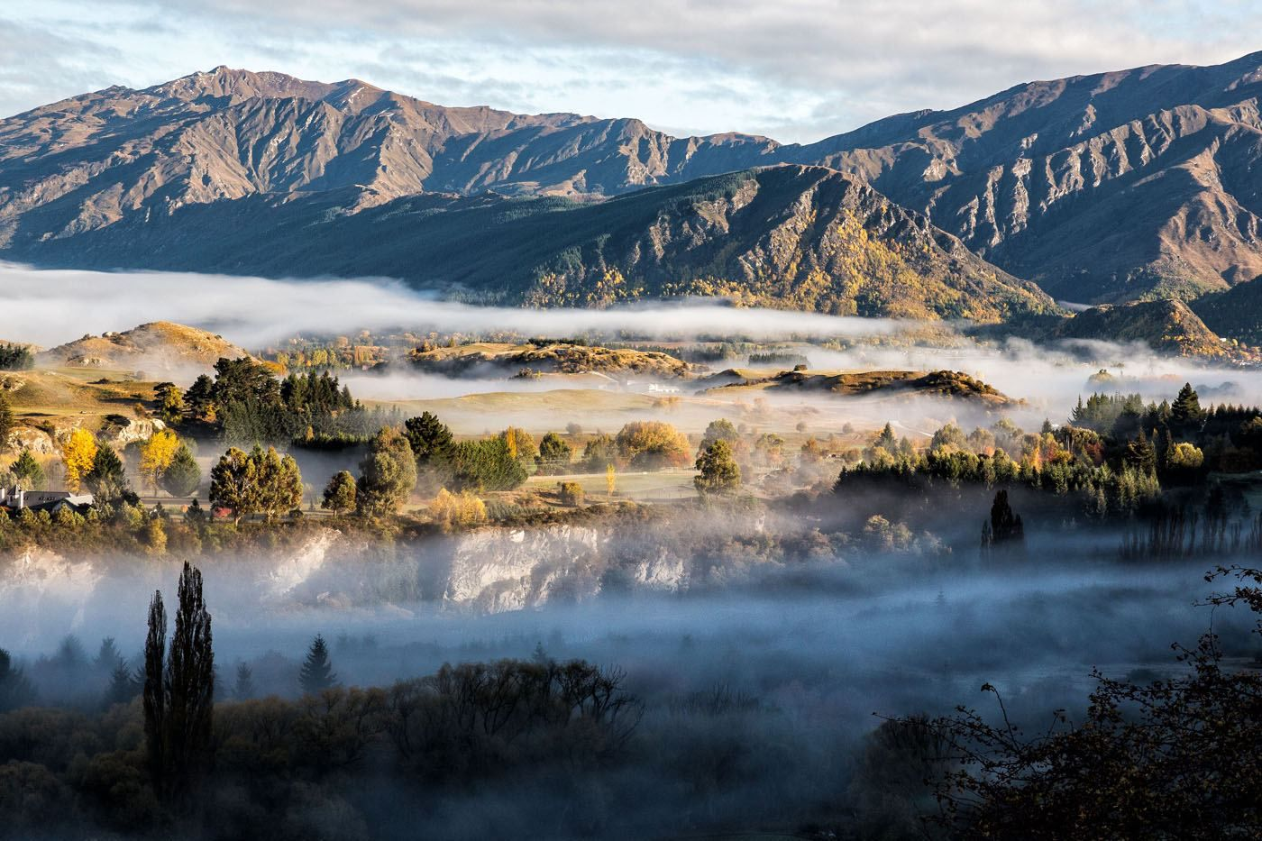 New Zealand in the mist