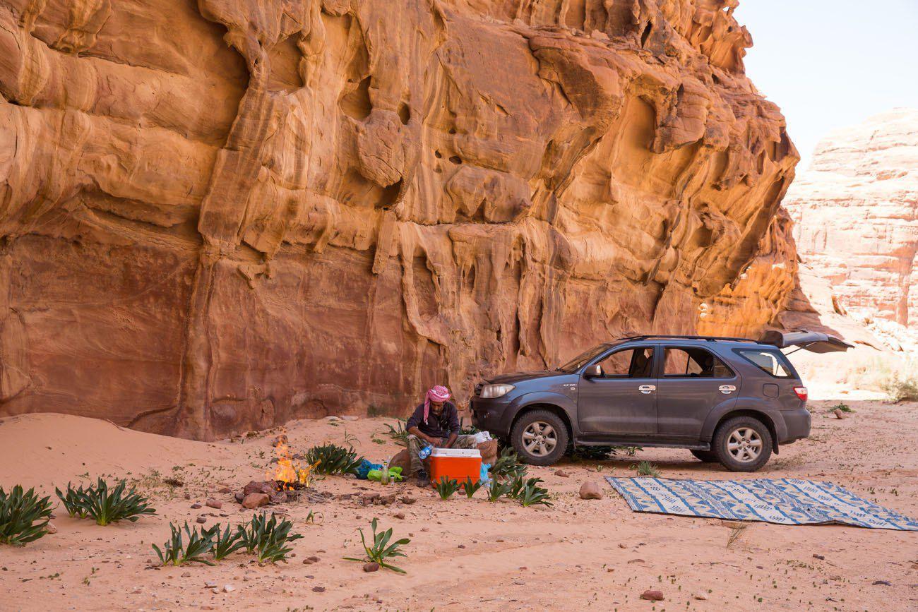 Picnic Site Wadi Rum