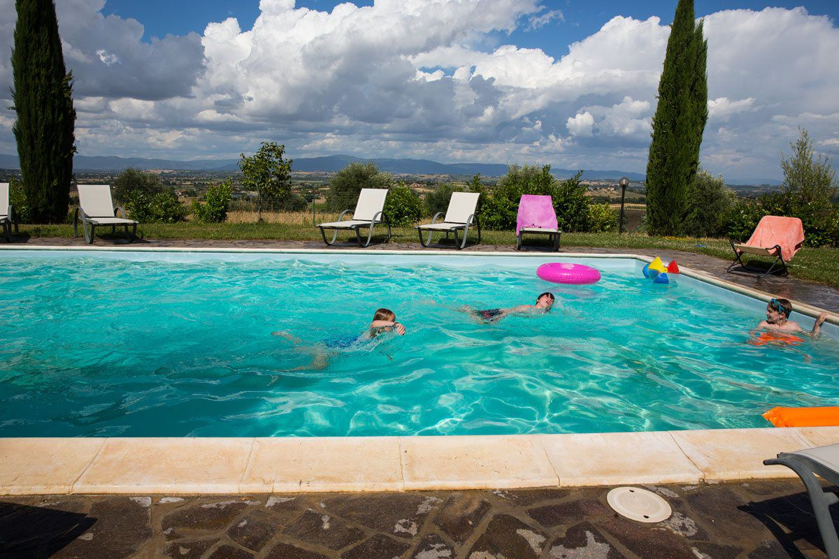 Poolside Tuscany