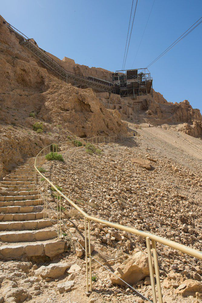 Stairs up to top of Masada