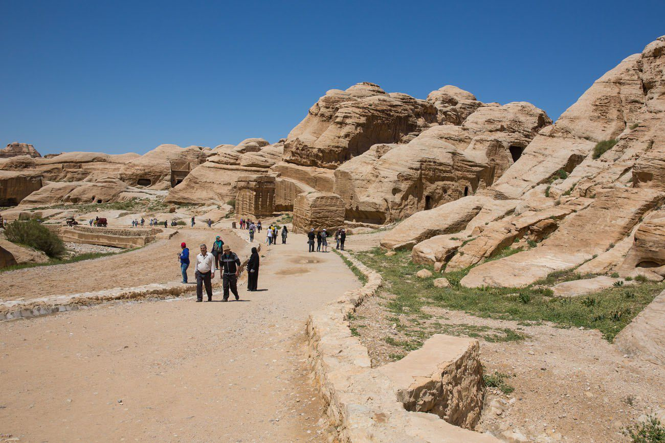 Start of the Walk into Petra