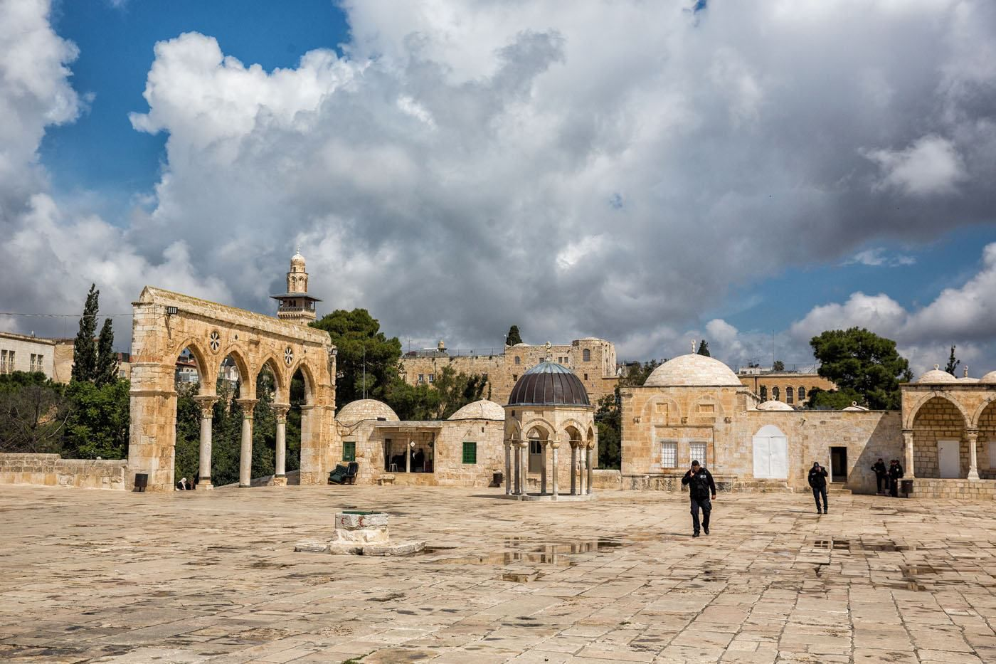 Temple Mount after the rain