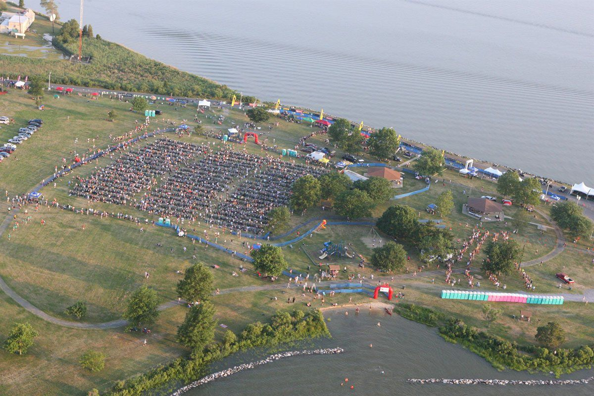 Aerial View Eagleman Transition