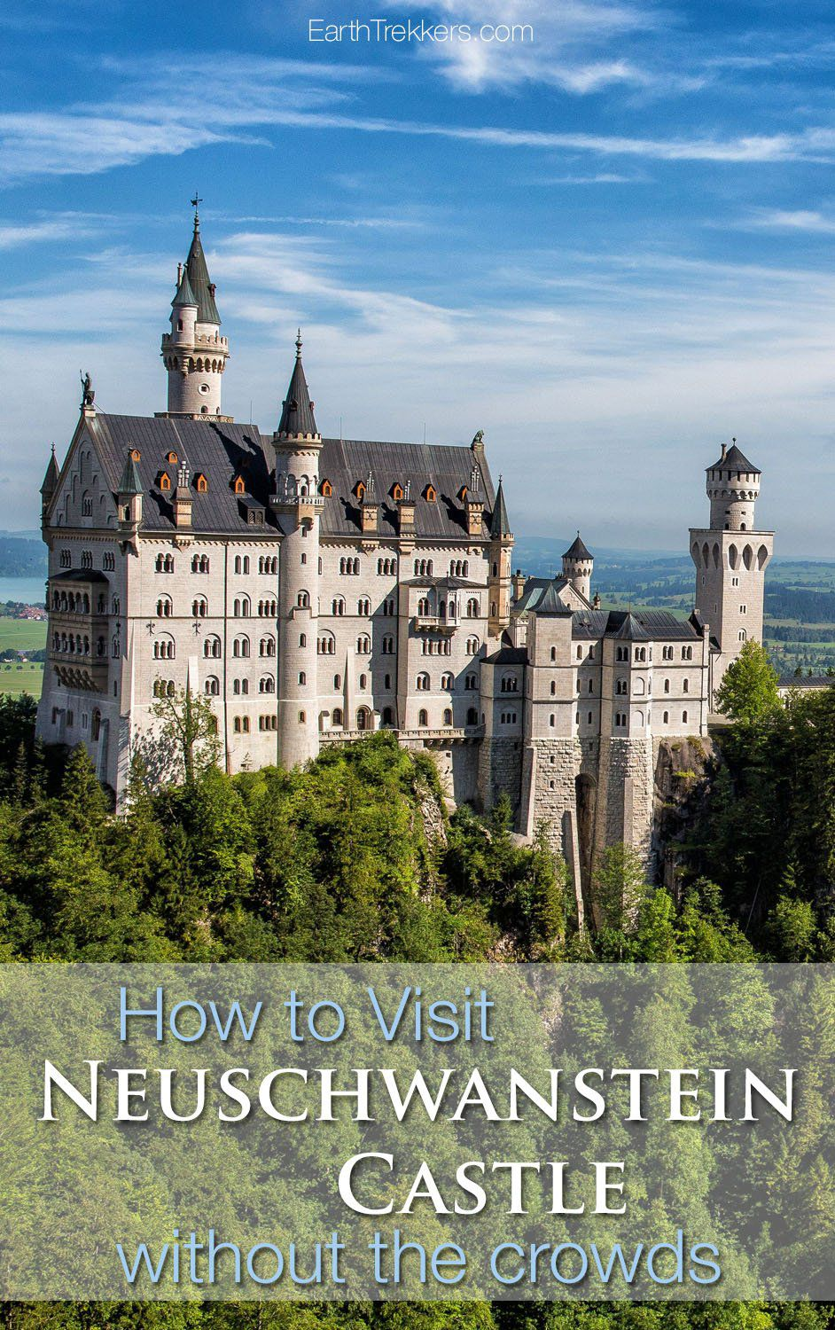 How to visit Neuschwanstein Castle without the crowds #neuschwanstein #bavaria #germany #travel