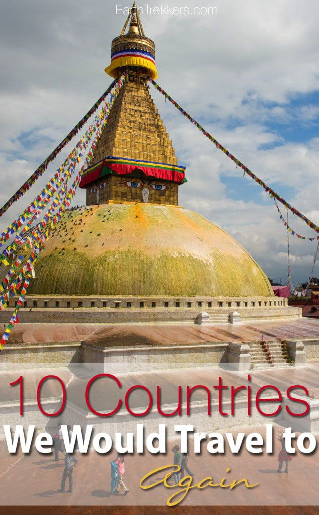 10 Countries We Would Travel to Again