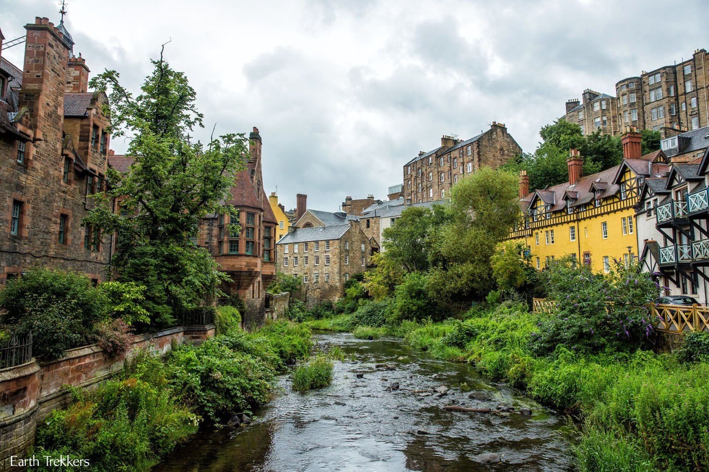 Dean Village View from Bridge