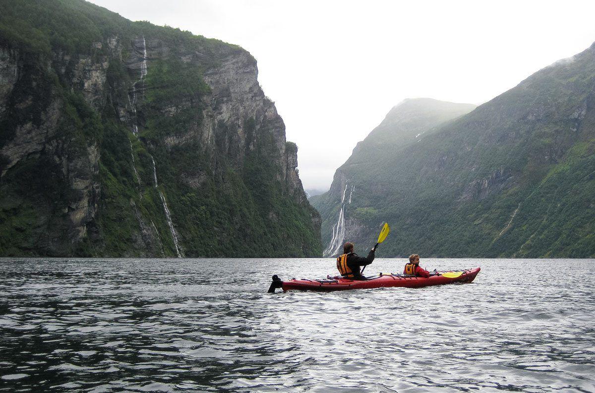 Kayaking Geirangerfjord Norway itinerary