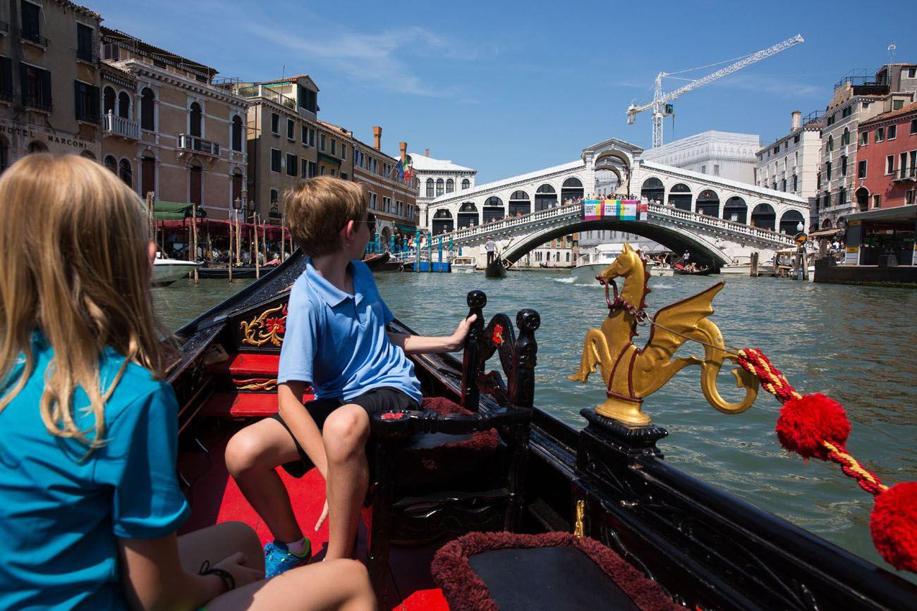 Rialto from Gondola