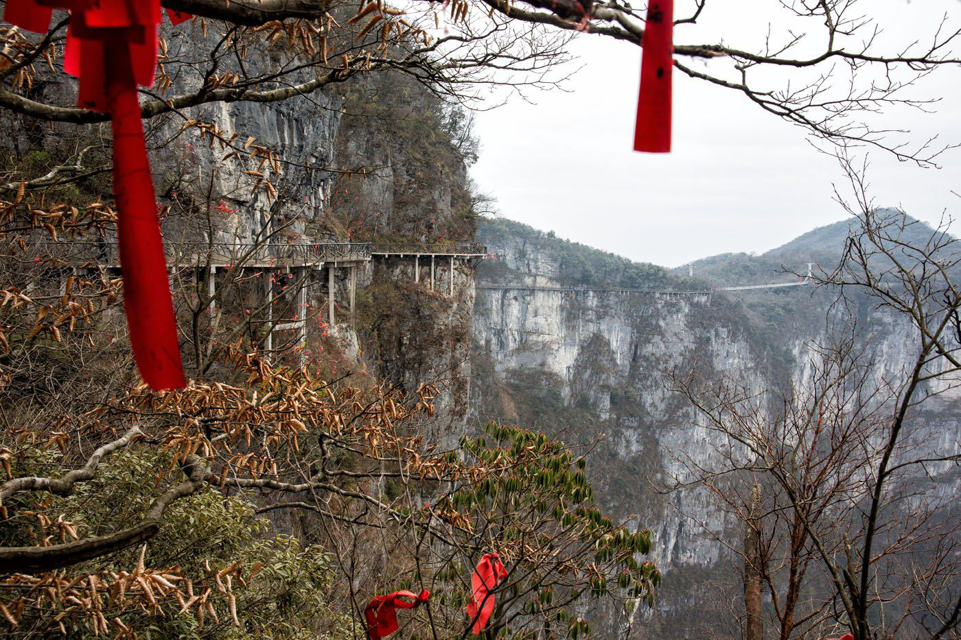 Tianmen Plank Road View