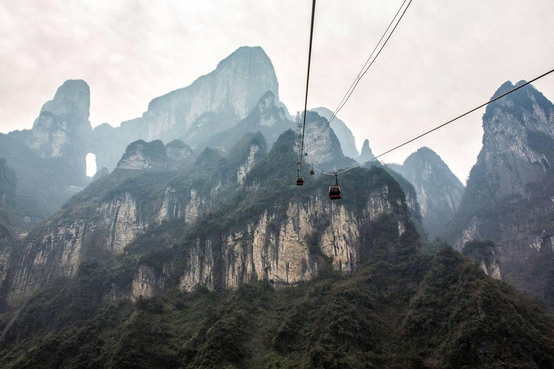 Tianmen Shan Cable Car Ride