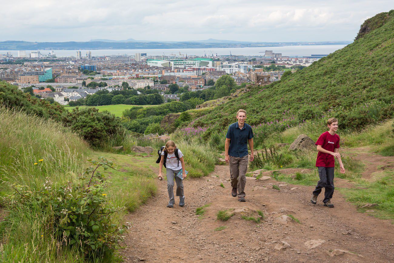 Arthur's Seat Hiking with Kids