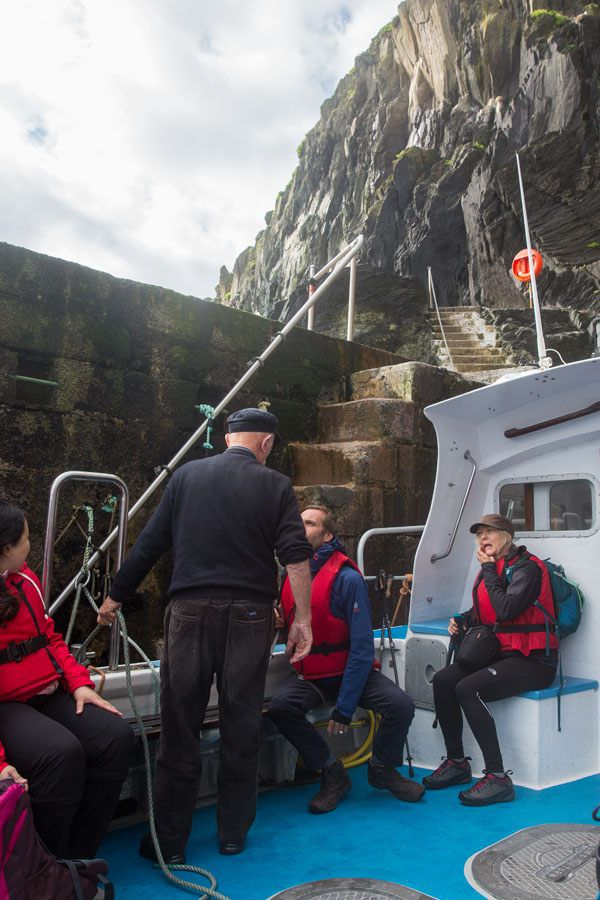 Boarding Skellig Michael