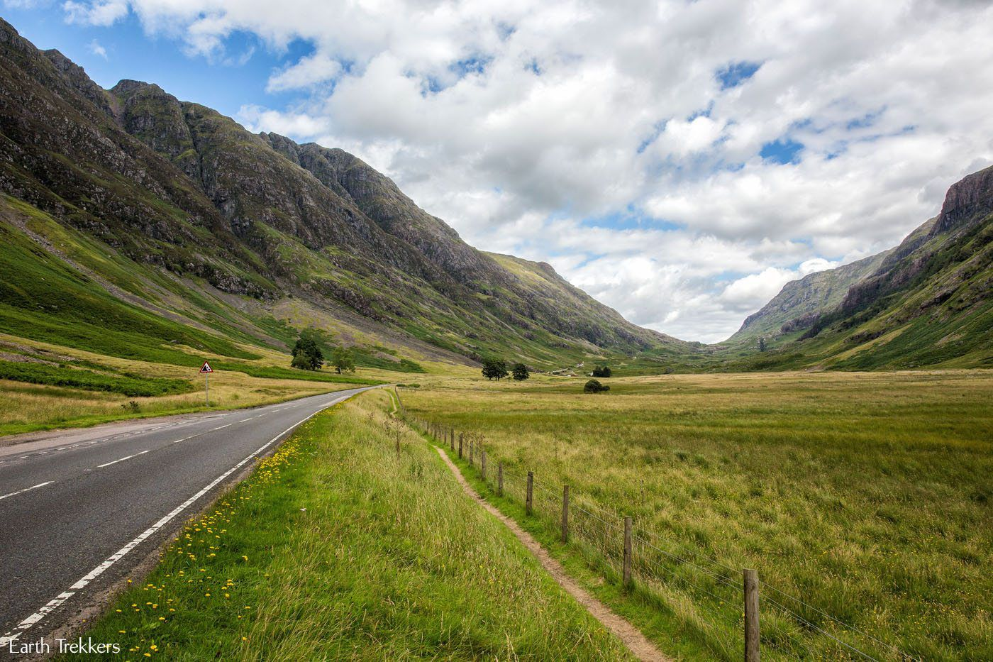 Driving Glencoe Valley