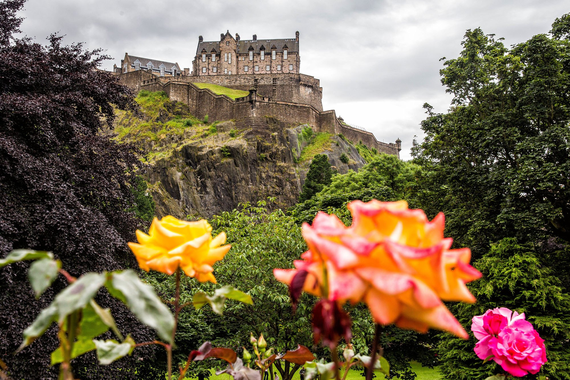 Edinburgh Castle in July