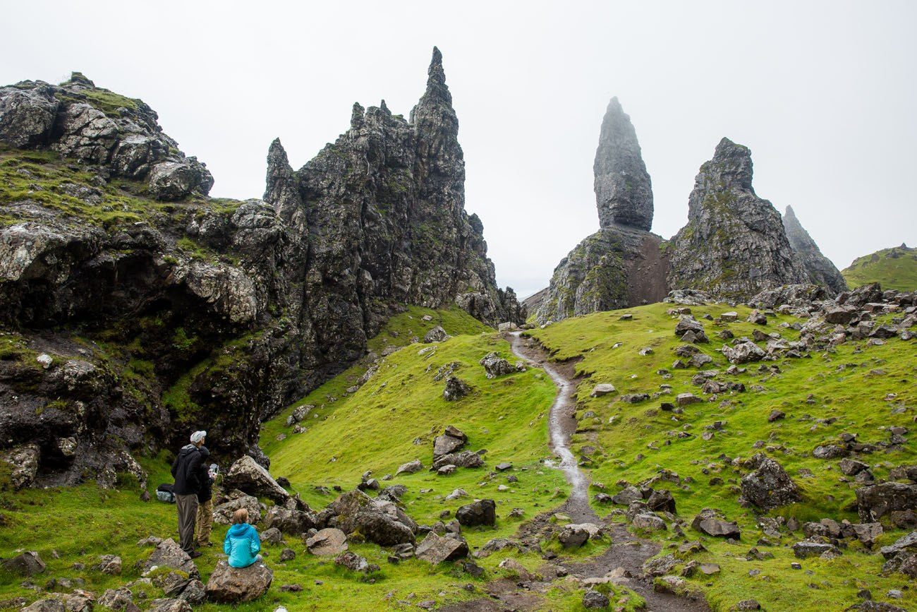 Flying Drone Old Man of Storr