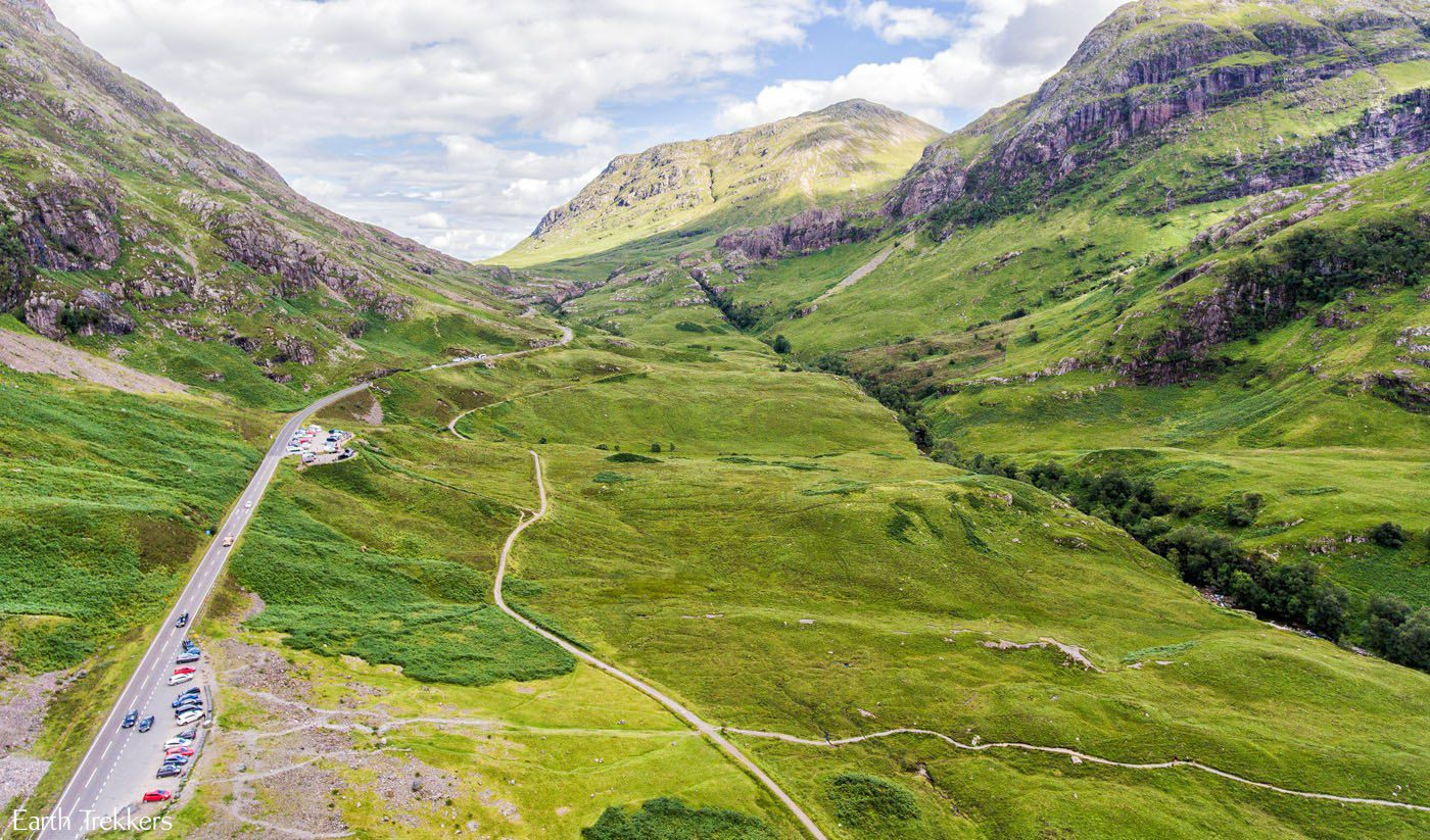Flying Over Glencoe Valley