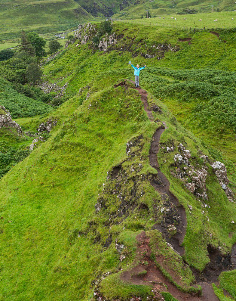 Hiking Fairy Glen Isle of Skye