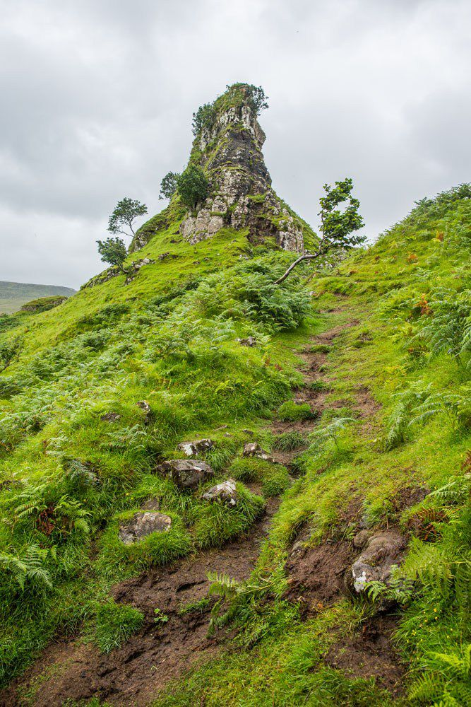 Hiking Fairy Glen Scotland
