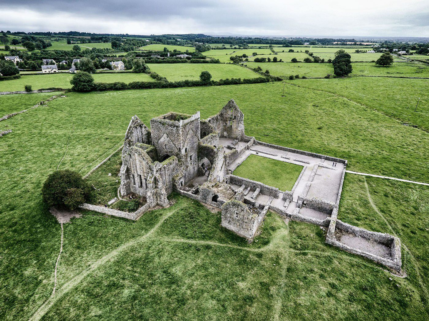 Hore Abbey and Rock of Cashel Drone